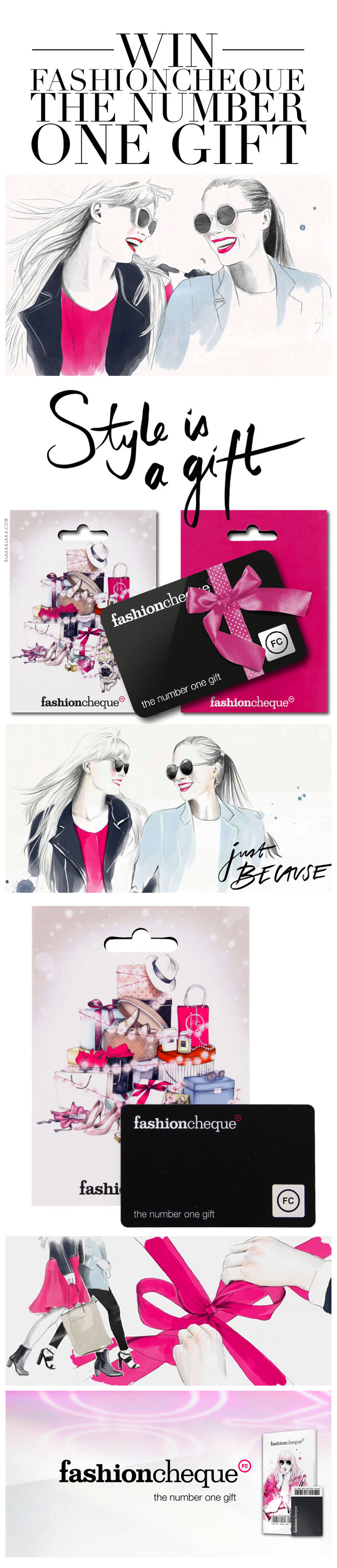 9344351cc99045 Win 5 x 1 fashioncheque «The Number One Gift»!